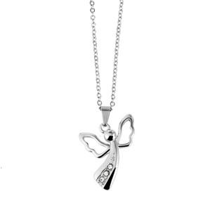 Silver angelo con zirconi